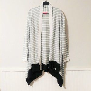 NWOT Woman Within Open Striped Cardigan 1X